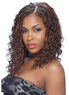 Crochet braids human hair type. Human hair great for crochet braids. Model model deep bulk