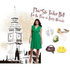 """""""Tinker Bell: Plus Size"""" by PlussizePixie on Polyvore"""