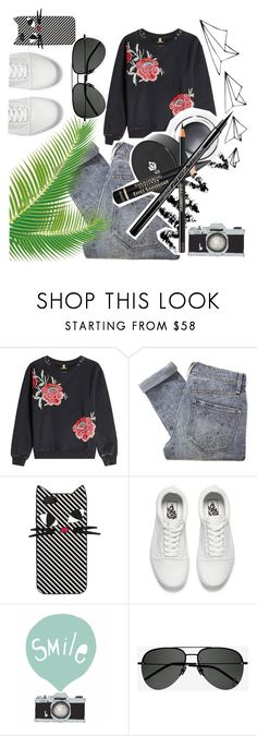 """Untitled #200"" by saraescalonalopez ❤ liked on Polyvore featuring True Religion, Marc by Marc Jacobs, Lulu Guinness, Vans and Yves Saint Laurent"