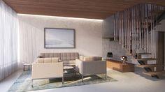 Modern living room by destilat design studio gmbh modern Real Estate Development, Stairs, Living Room, Interior Design, Table, Inspiration, Furniture, Modern Living, Home Decor