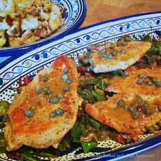 Chicken picatta with Rainbow Chard / She Cooks, He Cleans