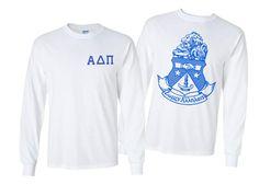 Alpha Delta Pi World Famous Crest Long Sleeve T-Shirt - $19.95!