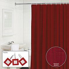 Waverly Linen 2-piece Garnet Shower Curtain and Hook Set