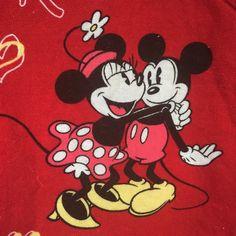 Disney Mickey And Minnie Mouse Scrub Top Red Size Love V Neck Uniform 3 Pocket #Disney
