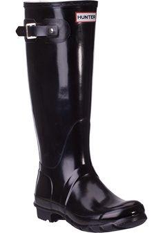 Hunter rain boots black classic