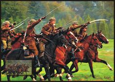 Lancers charge soldier Polish WW2 (reconstruction group) Digital Art painting more www.facebook.com/kopermedia