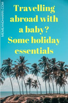 Travelling abroad with a baby? Here are some of our must take essentials to help make your holidays run nice and smoothly