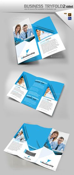 business three fold brochure design