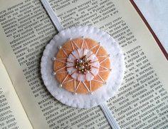 Felt bookmark handmade bookmark teacher gift by feltgofen on Etsy