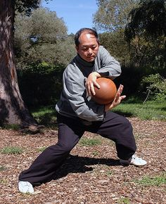 My teacher Master Yang with Taiji Ball Qigong - Theory of Physical Conditioning