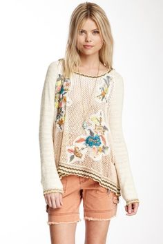 Free People Menagerie Pullover by Tee Time on @HauteLook