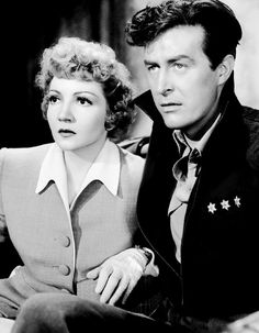 Claudette Colbert and Ray Milland in a still from Arise My Love, 1940