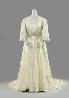 Wedding dress, ca. 1889 - ca. 1892