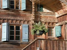 Our chalet is old and traditional and very pretty from the outside.