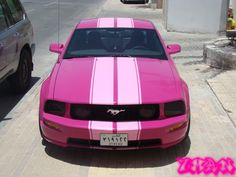 pink shelby mustang XD