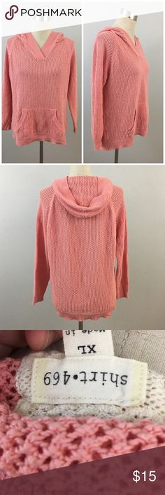 Dusty Pink Open Knit Hoodie Pocket Sweater Dusty Pink Open Knit Hoodie Pocket Sweater. Marked as an XL fits like a L. Thank you for looking at my listing. Please feel free to comment with any questions (no trades/modeling).  •Condition: very good, no visible flaws.   ✨Bundle and save!✨10% off 2 items, 20% off 3 items & 30% off 5+ items! HC 469 shirt  Tops Sweatshirts & Hoodies