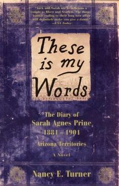 "These is my Words. The Diary of Sarah Agnes Prine By Nancy Turner. Pinner said ""Currently reading this - the best book I've read in a long time."" Looks interesting I Love Books, Good Books, Books To Read, My Books, Film Books, Life Changing Books, Books For Moms, Thing 1, Reading Material"