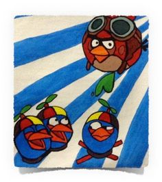 Angry Bird Pilots: Acrylics on Canvas Art of Creativity Studio Studio Art, Pilots, Art Studios, Acrylics, Art Projects, Creativity, Mermaid, Birds, Fantasy