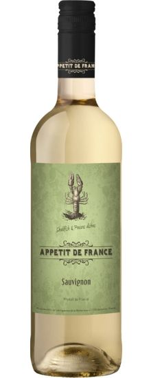 The quirky, colourful Appétit de France range is immediately eye catching and memorable, each label depicting an animal that makes a yum food match for the wine in question - cow for Cabernet, pig for Merlot, salmon for Chardonnay and (here) lobster for Sauvignon Blanc. Yum Food, Sauvignon Blanc, Whiskey Bottle, Wines, Salmon, Cow, How To Memorize Things, Label, Packaging