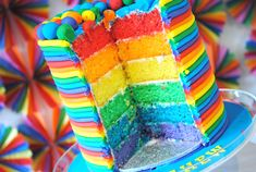 Rainbow cake from Love the Day blog