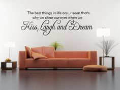 Best Things In Life Are Unseen Vinyl Decal by walldecalquotes, $12.99