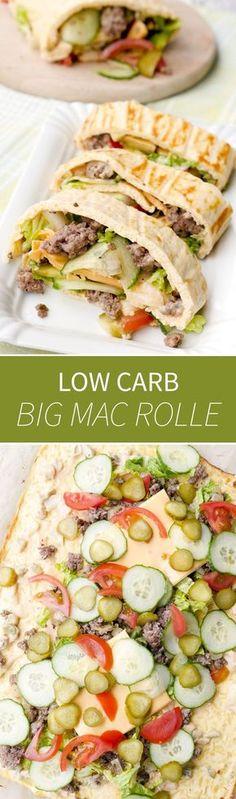 Die beste Low Carb Big Mac Rolle aller Zeiten, dank leckerem Big Mac Dressing / Low Carb Big Mac Wrap - Gaumenfreundin Foodblog #gesunderezepte #lowcarb #lowcarbrezepte #lowcarbrezept #lchf #schnellerezepte #ofenrezepte #fitnessrezepte #trennkostrezepte