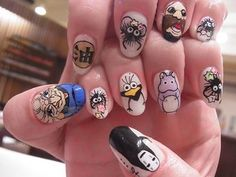 I want these nails I love spirited away!
