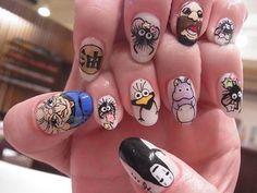 I want these nails I love spirited away!