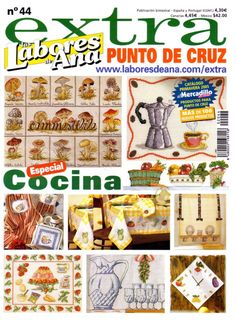 Magazine Cross, Book And Magazine, Cross Stitch Magazines, Cross Stitch Books, Beaded Cross Stitch, Cross Stitch Patterns, Cross Stitch Kitchen, Book Crafts, Needle And Thread