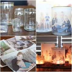 How To Make Glowing Photo Luminaries | Glowing photo luminaries are the ideal way to highlight photos and brighten memories to enjoy in a new way.