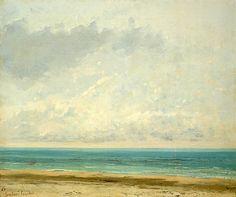 Calm Sea - Gustave Courbet , 1866