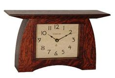 Motawi Tiles , Arts And Crafts Frames , and other Unique item for that special bungalow Brown Clocks, Wooden Mantel, Gustav Stickley, Craftsman Furniture, Tic Toc, Home Fireplace, Wood Clocks, Frame Crafts, Arts And Crafts Movement
