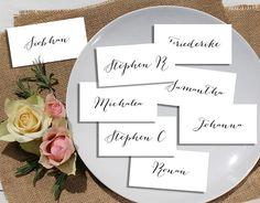 Wedding name card template. Small wedding card single name
