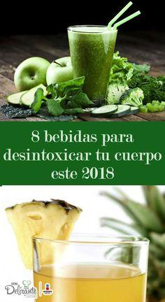 bebidas para bajar de peso | CocinaDelirante Healthy Drinks, Healthy Cooking, Healthy Tips, Healthy Eating, Healthy Recipes, Water Recipes, Detox Recipes, Homemade Detox, Detox Your Body