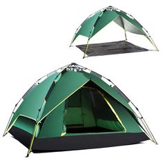 191.17$  Buy here - http://aliy6q.worldwells.pw/go.php?t=32561983305 - free shipping 2016 army green camping tent 230x230x130cm naturehike tent canvas material suit 3-4 people barraca 191.17$
