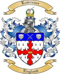 Lawrence Coat of Arms - English