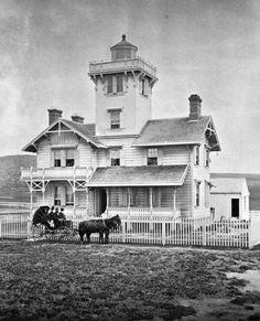 California History -- Los Angeles -- San Pedro -- Point Fermin Lighthouse (built 1874)