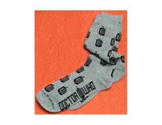 Doctor Who: Grey Logo Socks Reveal your true identity as a Doctor Who fan while sporting these classy Doctor Who Logo socks.