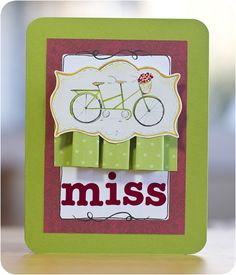 Classic Spring Sticker Miss You #Scrapbooking Card from Creative Memories    http://www.mycmsite.com/sites/write4jan