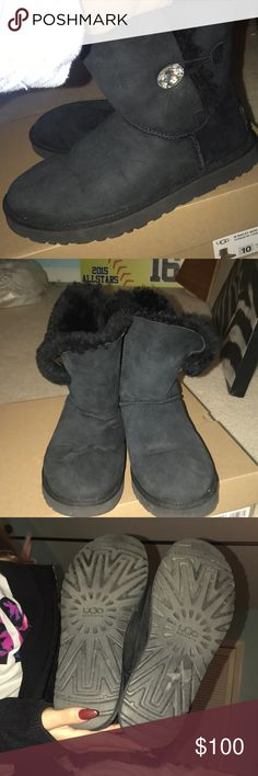 I'm selling Uggs barely worn! Make offers! They are black with a gem :) UGG Shoes Winter & Rain Boots
