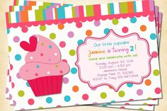 Sweet Cupcakes Custom Birthday Invitation by treasuredmoments2000, $12.95