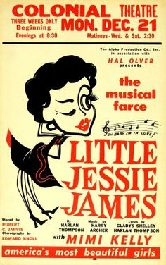 1953 flop revival of 1924 musical from broadwayposters.com