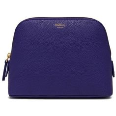 Mulberry Cosmetic Pouch ($295) ❤ liked on Polyvore featuring beauty products, beauty accessories, bags & cases, bags and indigo