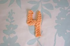 How To Crochet Numbers : Crochet Letters and Numbers on Pinterest Crochet Letters, Crochet ...