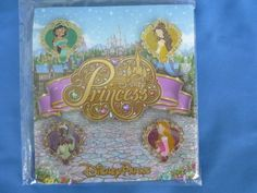 PRINCESS HEARTS  Disney  Pin SET of 4 Jewels  BELLE JASMINE TIANA AURORA  Card #DisneyPin