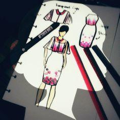 Flower strap dress #flowers #art #designfashion #design #designer #likeforlike #fashion #fashionable #fashionista #fashiondiaries #fashiondesigner