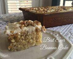 Estelle's: BEST EVER BANANA CAKE WITH CREAM CHEESE FROSTING