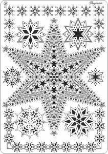 PERGAMANO MULTI GRID NO 21 STARS      Multi grid no 21 has star borders and star motifs, simply create your own edges and lace work by using the perforating and /or embossing patterns on the multi grid.  This grid can be used in combination with Pergamano perforating and embossing tools as they fit the grid exactly.