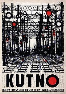 Ryszard Kaja - Kutno, rozjazdy kolejowe, plakat, Ryszard Kaja