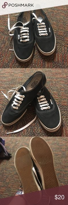 Black Vans Gently Used Black Vans, Women's 7.5, very good condition! Vans Shoes Sneakers